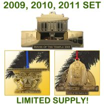 1st, 2nd & 3rd Annual House of the Temple Christmas Tree Ornament COMBO SET