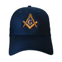 6-Panel Twill Navy Square & Compass Cap